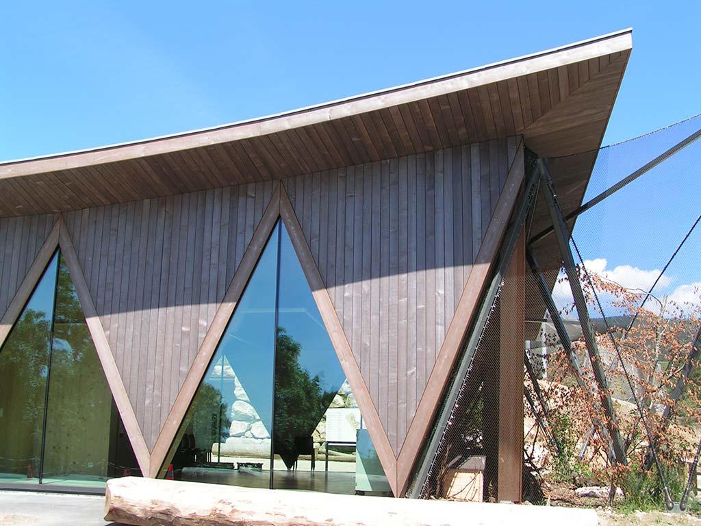 Exemple de murs rideaux bois
